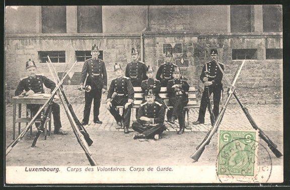 AK Luxembourg, Corps des Volontaires, Corps de Garde