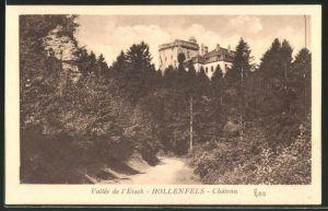AK Hollenfels, Chateau, Blick zum Schloss