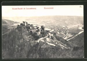 AK Bourscheid, Blick auf die Ruinen und ins Land