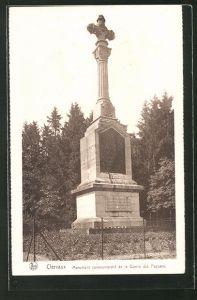 AK Clervaux, Monument commémoratif de la Guerre des Paysans