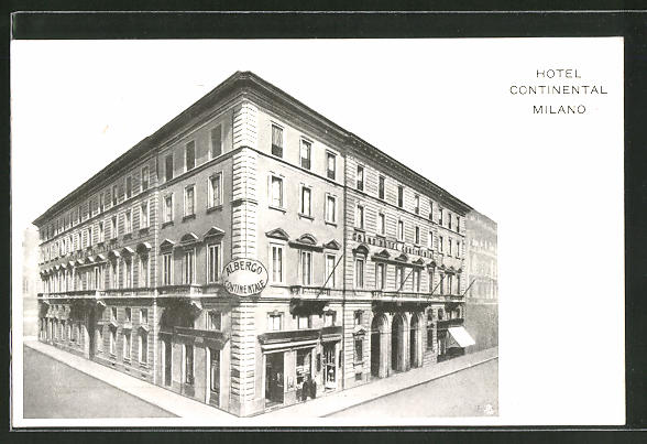 Ak milano grand hotel continental nr 7917498 oldthing for Grand hotel milano