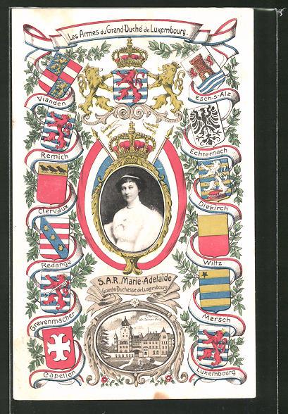 AK Grande Duchesse Marie-Adelaide, Adel von Luxemburg