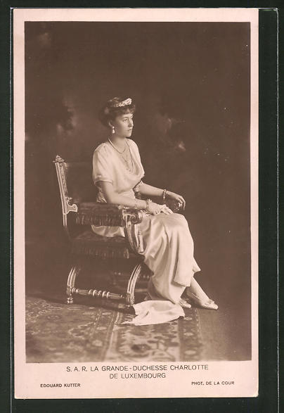 AK Adel von Luxemburg, la Grande-Duchesse Charlotte de Luxembourg