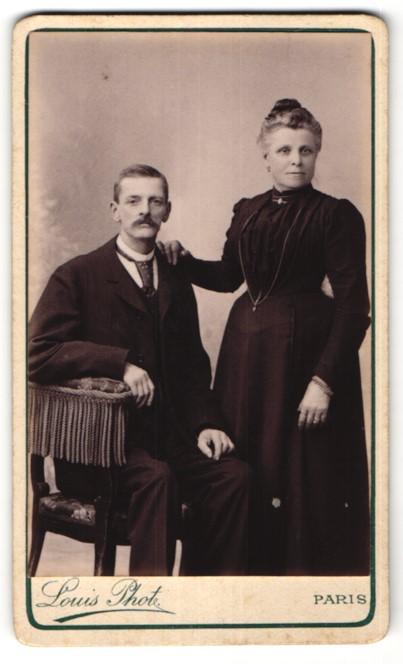Fotografie Louis, Paris, Portrait bürgerliches Paar
