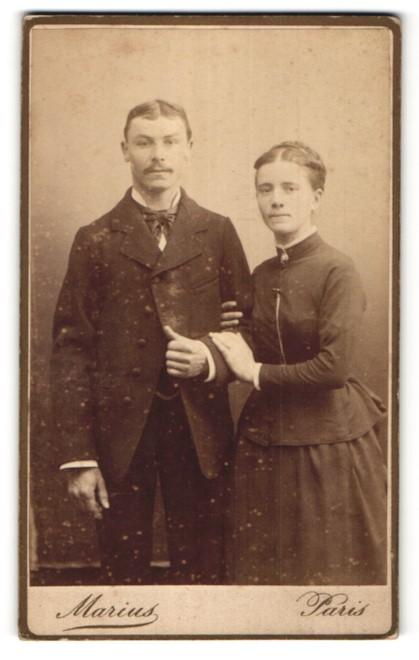 Fotografie Marius, Paris, Portrait junges bürgerliches Paar