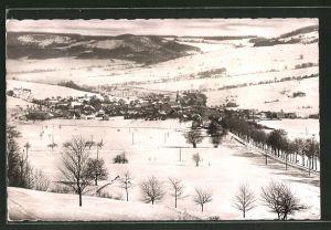 AK Wüstensachsen / Rhön, Ortsansicht im Winter