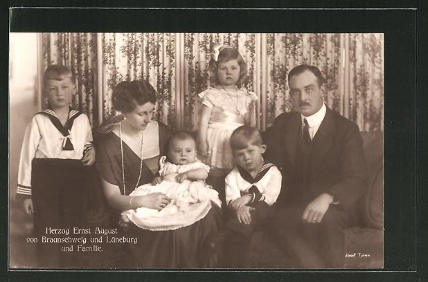 AK Herzog Ernst August Herzog von Braunschweig und Lüneburg und Familie