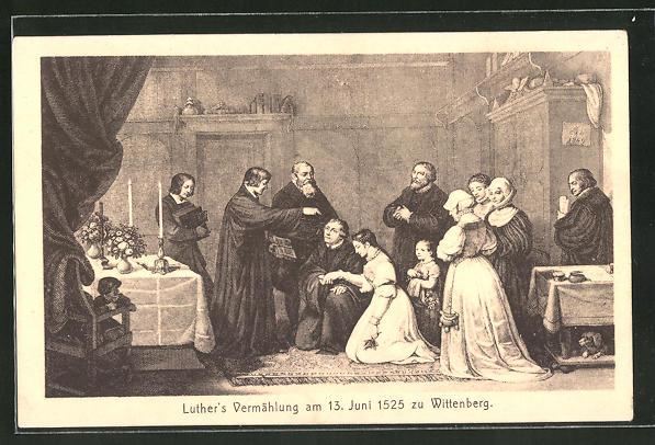 AK Martin Luthers Vermählung am 13. Juni 1525 zu Wittenberg