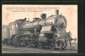 AK Eisenbahn, gekuppelte Schnellzugs-Lokomotive d. Preuss. Staats-Eisenbahn S 6