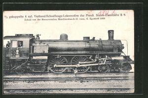 AK Eisenbahn, 2 /5 gekuppelte 4 zyl. Verbund-Schnellzugs-Lokomotive der Preuss. Staats-Eisenbahn S 9