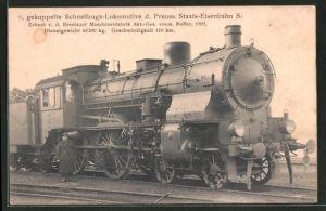 AK Eisenbahn, 2 /4 gekuppelte Schnellzugs-Lokomotive d. Preuss. Staats-Eisenbahn S 6