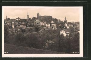 AK Elbogen, Teilansicht der Ortschaft