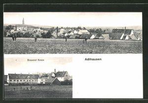 AK Adlhausen, Brauerei Kraus & Ortsansicht