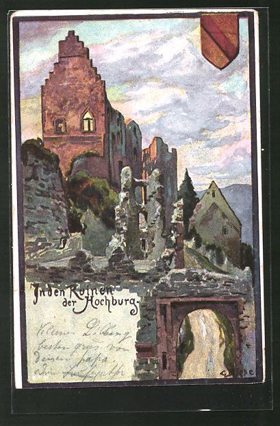Künstler-AK Carl Biese: In den Ruinen der Hochburg
