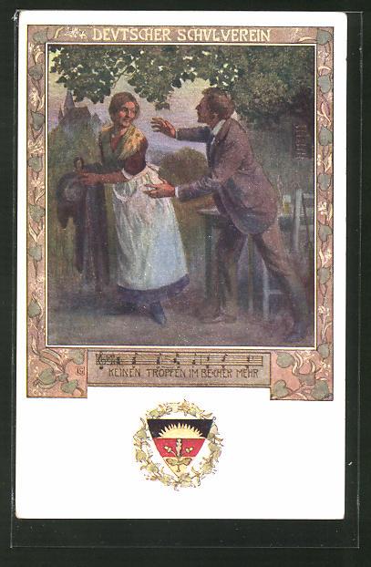Künstler-AK Karl Friedrich Gsur, Deutscher Schulverein Nr. 84: Lied