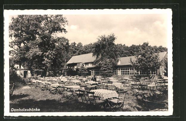 AK Schkeuditz, Gasthaus Domholzschänke, Bes. Arth. Rosch Nr. 7927109 ...