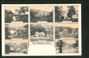 AK Eisenberg, das Mühltal, Schössertmühle, Robertsmühle, Froschmühle, Naupoldsmühle, Pfarrmühle
