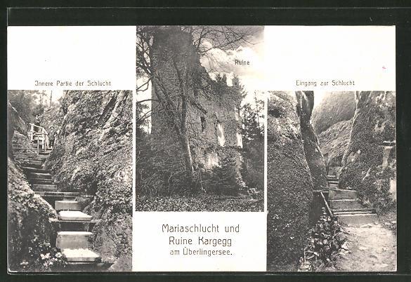 AK Allensbach, Mariaschlucht und Ruine Kargegg am Überlingersee 0