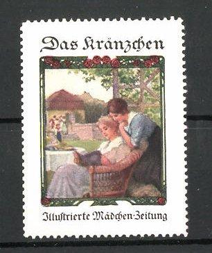 Reklamemarke illustrierte Mädchen-Zeitung
