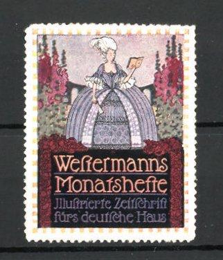 Reklamemarke Westermanns Monatshefte,