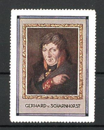 Reklamemarke Serie: Befreiungskriege, Porträt von Gebhard von Scharnhorst