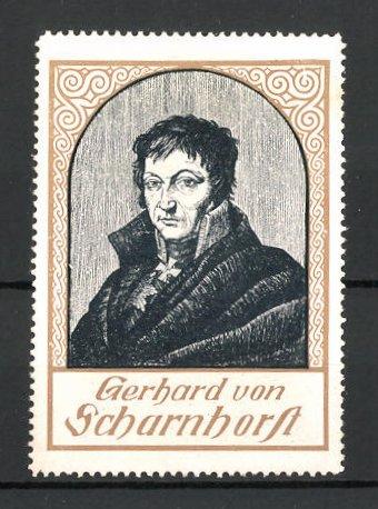 Reklamemarke Serie: Befreiungskriege, Gebhard von Scharnhorst