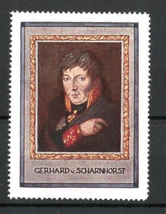 Reklamemarke Serie: Befreiungskriege, Gebhardt von Scharnhorst