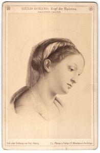 Fotografie F. & Brockmann's Nachfolger, Gemälde von Giulio Romano, Kopf der Madonna