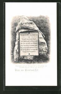 AK Westerland-Sylt, Gedenkstein für Heimatlose