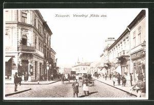 AK Kolozsvár, Wesselényi Miklós utca, Strassenpartie