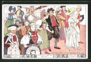 Künstler-AK Vevey, Fete de Vignerons 1905, les gens de la Noce
