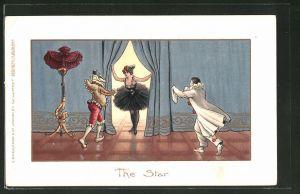 AK The Star, Harlekine und Tänzerin, Pierrot und Pierette