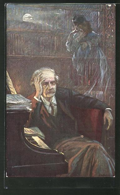 Künstler-AK Portrait des Komponisten J. Massenet
