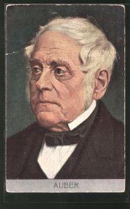 Künstler-AK Portrait des Komponisten D. F. Auber