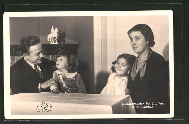 AK Bundeskanzler Dollfuss samt Familie