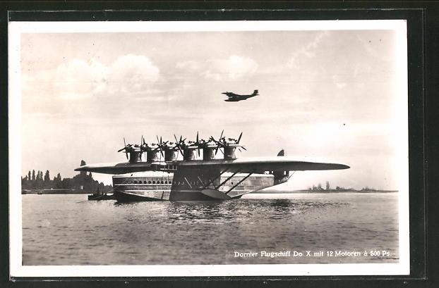 AK Dornier Flugschiff Do X mit 12 Motoren