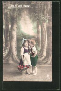 AK Hänsel und Gretel im finsteren Wald