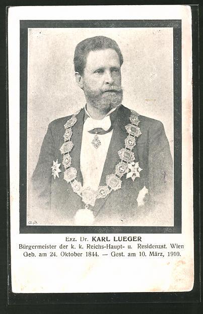 AK Exz. Dr. Karl Lueger, Bürgermeister Wien