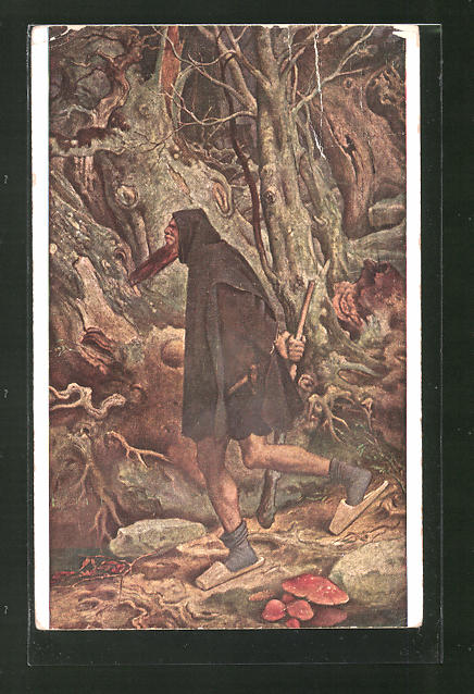 Künstler-AK Moritz von Schwind: Rübezahl im Wald