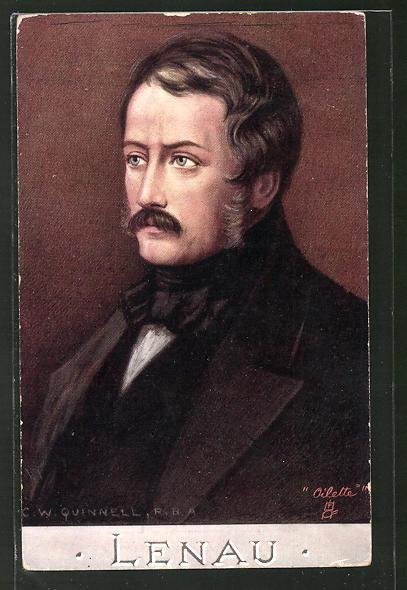 AK Porträt des Schriftstellers Nikolaus Lenau