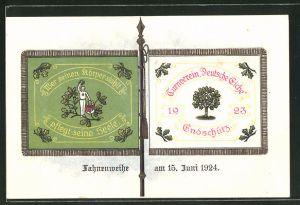 AK Endschütz, Turnverein Deutsche Eiche 1923, Fahnenweihe am 15. Juni 1924