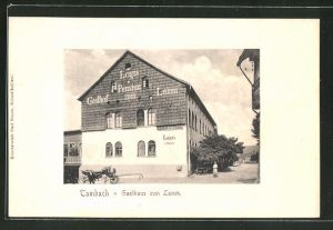 AK Tambach, Ansicht vom Gasthaus zum Lamm