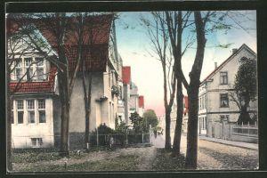 AK Bünde, Wohnhäuser in der Kaiser Wilhelm-Strasse