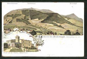 Lithographie Gersfeld, Restaurant-Logirhaus v. Carl Sorg, Wasserkuppe
