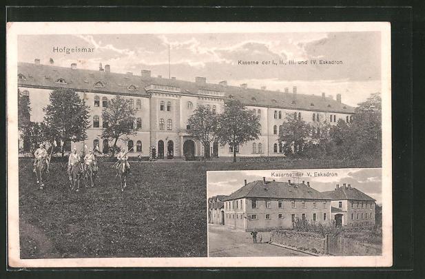 AK Hofgeismar, Kaserne der I., II., III. und IV. Eskadron, Kaserne der V. Eskadron