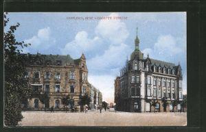 AK Saarlouis, Neue Lisdorfer Strasse mit Retaurant Kaiserhof