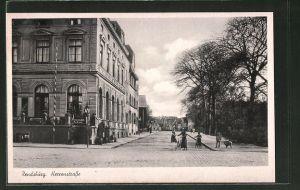 AK Rendsburg, Blick in die Herrenstrasse