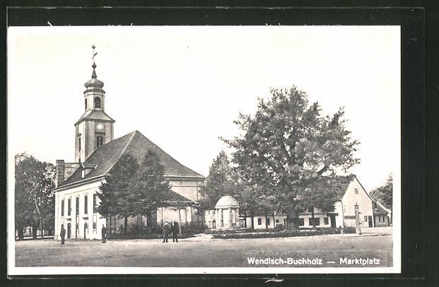 AK Wendisch-Buchholz, Kirche am Marktplatz