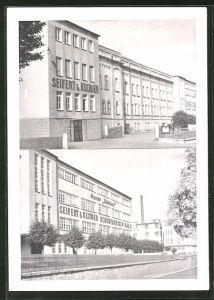AK Naila / Oberfr., Partien an der Seifert & Klöber G.m.b.H. Wohlauf-Schuhfabriken
