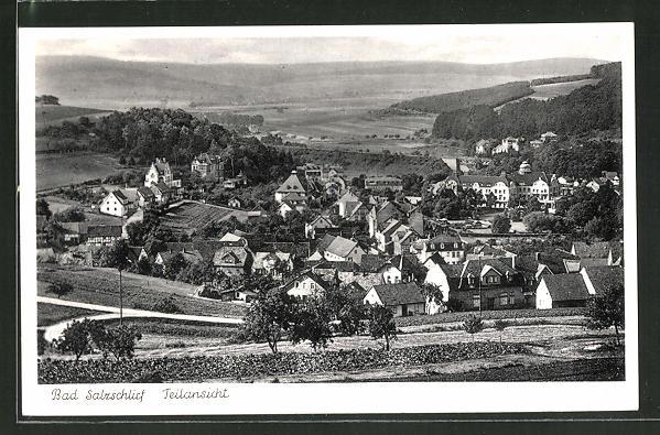 AK Bad Salzschlirf, Ortspanorama vom Berg aus gesehen